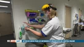 RTL INFO 19H : Grève des infirmiers urgentistes et de soins intensifs de l'Hôpital...