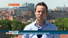 RTL INFO 13H : Le point en direct sur l'éclipse solaire qui s'achève en ce moment