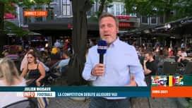 RTL INFO 19H : Euro 2020: en direct de Liège avant le premier match, Italie-Turquie
