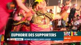 RTL INFO 13H : Les supporters ont fêté la victoire des Diables face à la Russie
