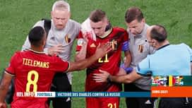 RTL INFO 13H : L'Euro 2020 est malheuresement terminé pour Timothy Castagne