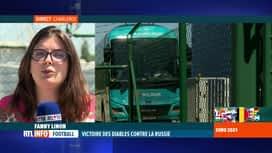 RTL INFO 13H : Les Diables Rouges sont attendus à l'aéroport de Charleroi