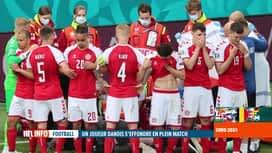 RTL INFO 13H : Le Danois Christian Eiksen victime d'un malaise cardiaque en plein ...