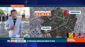 RTL INFO 19H : Un gros dispositif de sécurité entoure la visite de Joe Biden à Bru...