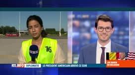 RTL INFO 19H : Le président américain Joe Biden attendu à l'aéroport de Melsbroek