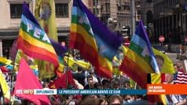 RTL INFO 19H : Des manifestants opposés à la tenue du sommet de l'OTAN à Bruxelles