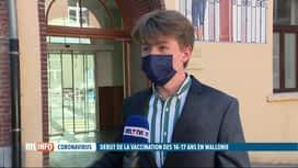 RTL INFO 13H : Coronavirus: les jeunes wallons de 16-17 ans invités à se faire...