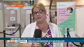 RTL INFO 13H : Coronavirus: Lara Kotlar revient sur la vaccination des jeunes