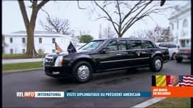"""RTL INFO 19H : Joe Biden à Bruxelles: """"The Beast"""" fait partie de l'arsenal sécurit..."""
