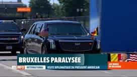 RTL INFO 19H : Joe Biden à Bruxelles: d'importantes perturbations dans la capitale