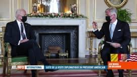 RTL INFO 13H : Joe Biden reçu par le roi Philippe au Palais royal