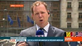 RTL INFO 13H : Joe Biden reçu en ce moment à l'Union européenne à Bruxelles