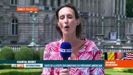 RTL INFO 13H : Visite de Joe Biden: Chantal Monet est en direct du Palais royal