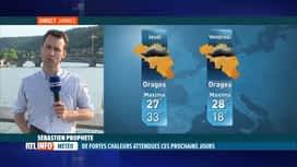 RTL INFO 19H : Grosses chaleurs: Sébastien Prophète nous dit ce qui nous attend da...