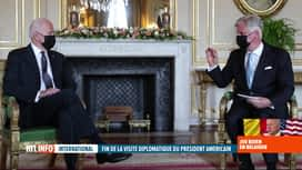 RTL INFO 19H : Le président américain Joe Biden reçu par le roi Philippe au Palais...