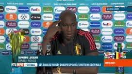 RTL INFO 13H : Euro 2020: Danemark-Belgique: réaction de Romelu Lukaku et Roberto...