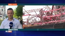 RTL INFO 19H : Anvers: effondrement dans un bâtiment en travaux, 1 décès et 5 disp...