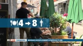 RTL INFO 19H : Coronavirus: 8 personnes à table et ouverture jusqu'à 1h du matin d...
