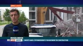 RTL INFO 13H : Effondrement d'un bâtiment à Anvers: le point sur place avec Michae...
