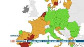 RTL INFO 13H : Voyages: toute la Belgique passe en orange sur la carte européenne