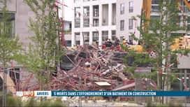 RTL INFO 19H : Effondrement d'un bâtiment à Anvers: 5 victimes ont été extraites d...