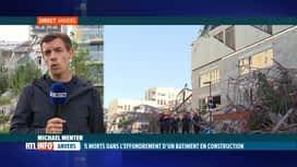 RTL INFO 19H : Effondrement d'un bâtiment à Anvers: le point sur place avec Michae...