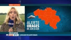 RTL INFO 19H : Météo: Emilie Dupuis fait le point sur l'alerte orages lancée par l...