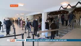 RTL INFO 19H : Coronavirus:  la Belgique est devenue le pays qui vaccine le plus vite