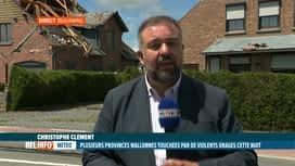 RTL INFO 13H : Intempéries: Christophe Clément fait le point sur la situation à Be...