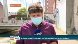 RTL INFO 13H : Intempéries: la Wallonie picarde a été touchée la nuit dernière
