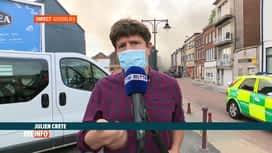 RTL INFO 19H : Gosselies: le point en direct d'un important incendie