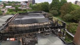 """RTL INFO 13H : Violent incendie sur le site de l'ancienne piscine """"Aqua 2000"""" à Go..."""