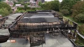 """RTL INFO 19H : Violent incendie sur le site de l'ancienne piscine """"Aqua 2000"""" à Go..."""