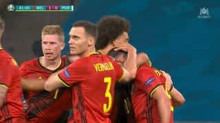 1 - 0 : La Belgique ouvre le score (42')