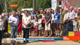 RTL INFO 13H : Deuil national suite aux inondations: minute de silence à 12h01