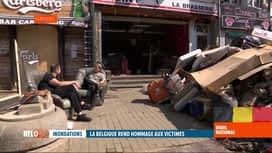 RTL INFO 13H : Deuil national suite aux inondations: réaction de Verviétois critiques
