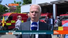 RTL INFO 13H : Deuil national suite aux inondations: le point après la cérémonie à...
