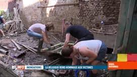 RTL INFO 13H : Inondations: les sinistrés tentent de relativiser et de rebondir