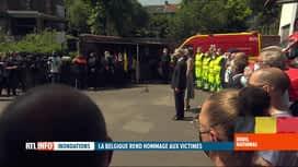 RTL INFO 19H : Deuil national suite aux inondations: une minute de silence à 12h01