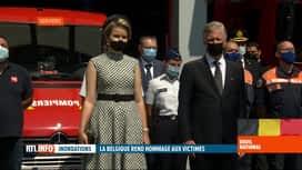 RTL INFO 19H : Deuil national suite aux inondations: cérémonie d'hommage à Verviers