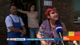 RTL INFO 19H : Deuil national suite aux inondations: des sinistrés en colère à Trooz