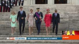 RTL INFO 13H : Fête nationale: Te Deum en présence de la famille royale à Bruxelles