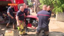 RTL INFO 13H : Inondations: une dizaine de pompiers de Charleroi sont partis à Ver...
