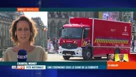 RTL INFO 19H : Fête nationale: le défilé marqué par la crise sanitaire et les inon...