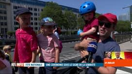 RTL INFO 19H : Fête nationale: certains se sont rendus sur place pour observer le ...