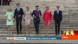 RTL INFO 19H : Fête nationale: le Te Deum a réunit la famille royale à Bruxelles
