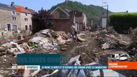 """RTL INFO 13H : Inondations: des hameaux """"oubliés"""" sont quasi coupés du monde depui..."""