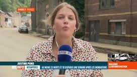 RTL INFO 13H : Inondations: le point avec Justine Pons à Trooz où la Croix-Rouge...