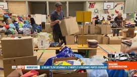 RTL INFO 19H : Inondations: Verviers dipose d'un centre où les bénévoles trient le...