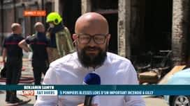 RTL INFO 13H : Incendie à Gilly: des nouvelles de l'état de santé des 5 pompiers b...